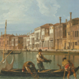 Canaletto paints a market in the Piazza San Marco