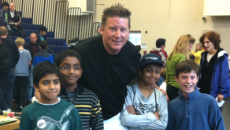 Chris Clime mesmerizes kids