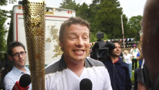 Torch bearers Jamie Oliver and Raymond Blanc