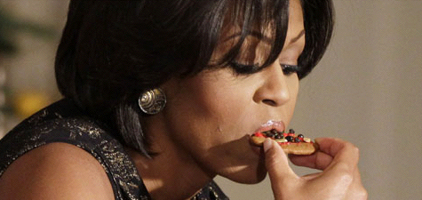 Michelle Obama meets cookie