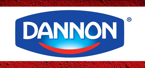 Dannon logo surrounded by processed cochineal