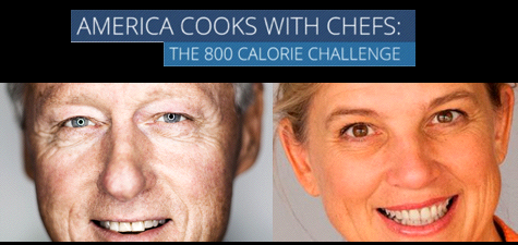 America Cooks with Chefs:  The 800 Calorie Challenge with Bill Clinton and Mary Sue Milliken