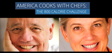 America Cooks with Chefs:  How the 800 Calorie Challenge Works