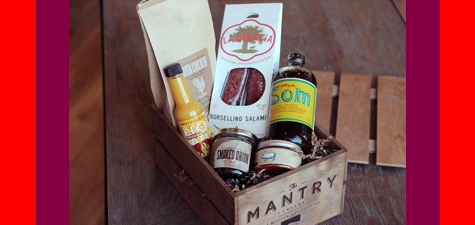 Mantry box of man-foody goodies