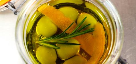 Olive-oil olives a la CREA
