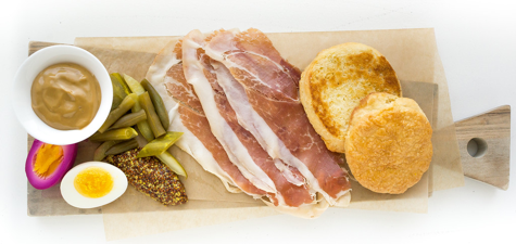 Ham by Rey Lopez via America Eats Tavern