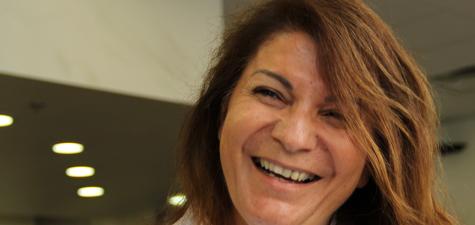 Argiro Barbarigou smile by Abou Daqn