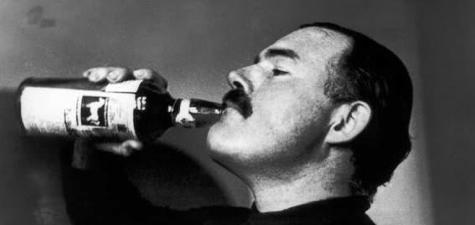 Ernest Hemingway while drinking