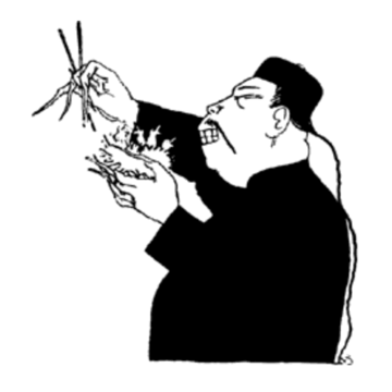Chinaman in On Food by Hilaire Belloc drawn by BTB
